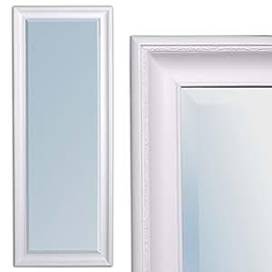 Miroir 60 x 160 cm-miroir mural de style baroque blanc pur copia cadre en bois et fACETTE