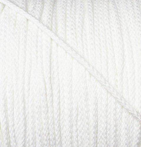 5 m Baumwollkordel 3 mm weiß