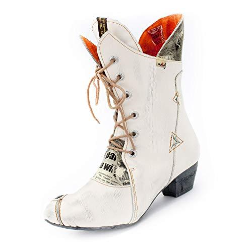 TMA Damen-Stiefel 7011 Cremeweiß 38