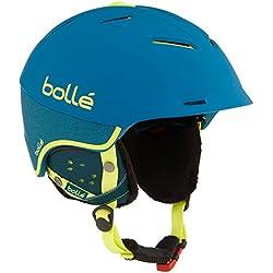 Bollé Synergy Casco de esquí, Unisex adulto, Synergy, turquesa, L