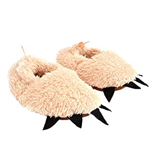 Asdomo Baby Novelty Monster Claw Shoes Children Cartoon Cosplay Soft Plush Furry Animal Costume Paw Claw Shoes