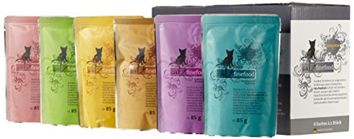 Catz finefood Katzenfutter Multipack Pouches (No.3-No.13 ) 12 x 85g, 1er Pack (1 x 1.02 kg)