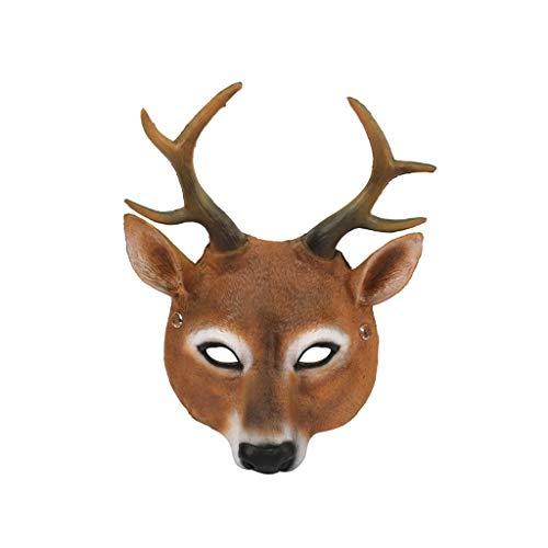 QIMANZI Halloween Cosplay Gruselige Maske KostümZum Erwachsene Party DekorationRequisiten Gruselig Festival Cosplay Kostüm(Braun) (50er Jahre Kostüm Requisiten)