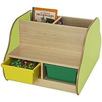 mobeduc doppelseitig Bench für 4Kinder mit Bücherregal, Holz, Apple grün, 70x 54x 92cm preisvergleich bei kinderzimmerdekopreise.eu