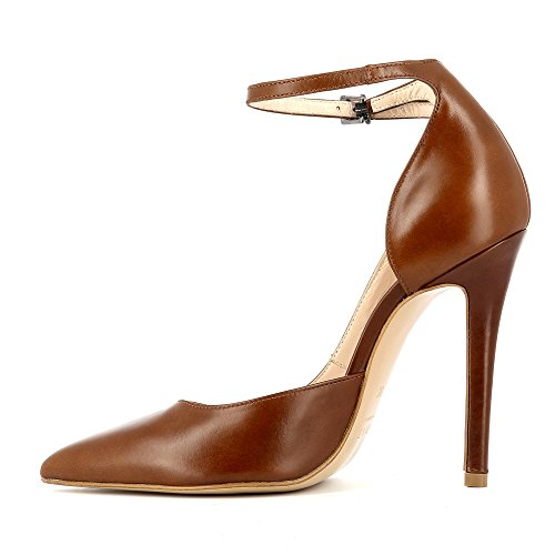 LISA Damen Pumps Glattleder Cognac