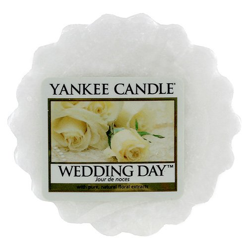YANKEE CANDLE Tarts Teelichter-Kerzen, Wax, Wedding Day, 8.4 x 6.1 x 1 cm