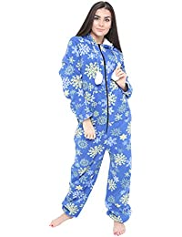 563099b54b Pilot Imports® Ladies Fleece All in One Piece Pyjamas Jump Sleep Suit  Onesie PJS Nightwear