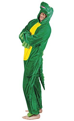Fancy Ole - Herren Männer Motto-Party Karneval Kostüm Plüsch Krokodil, Onesie, Komplett-Jumpsuit, One Size, (Kostüm Wildkatze Böse)