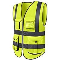 RAINCOAT Fahrradanzug- Reflektierende Weste, Hygiene Worker Kleidung Verkehr Fluoreszierende Anzugsweste Reflektierende Kleidung, Männlich -Regenmantel (größe : L, UnitCount : 2 Pieces)
