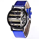 WLFPEG Reloj De Moda para Mujer Banda De Cuero Piano Reloj para Mujer Relojes Exquisitos para Mujer