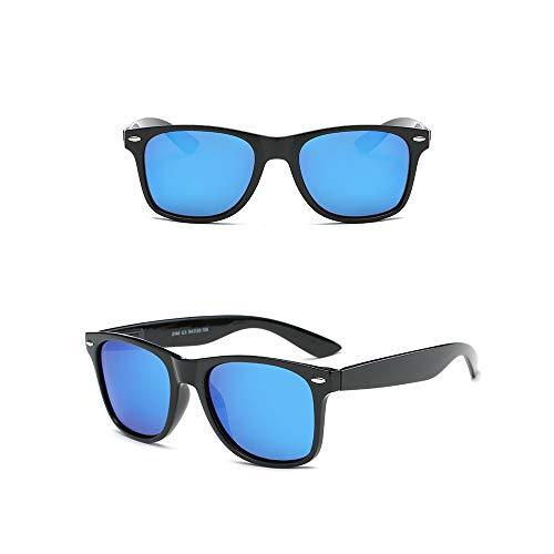 Amexi Occhiali sportivi da uomo unisex polarizzati occhiali da sole UV 400 protezione nero design classico argento