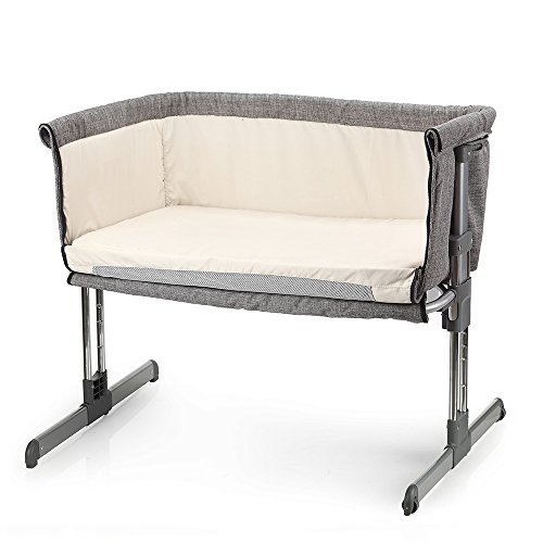 MiClassic Bedside Crib Travel Bassinet Easy Folding Adjustable Portable Newborn  Baby (Grey) b245e1e83