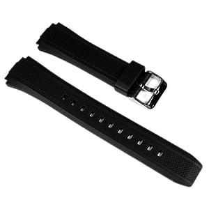 Casio Ersatzband Uhrenarmband Resin Band schwarz EF-552