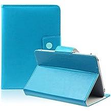 Tablet Funda - SODIAL(R)10 pulgadas Funda universal Tablet PC Cristal cuero de la PU soporte cascara (azul)
