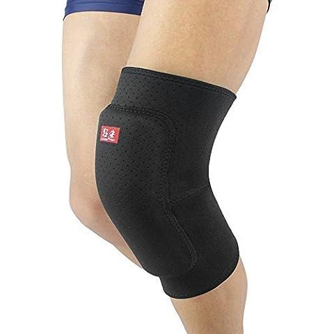 kuangmi NUOVA gamba ginocchio Tutore per esercizio sport protezione Knee Guard Pad, M