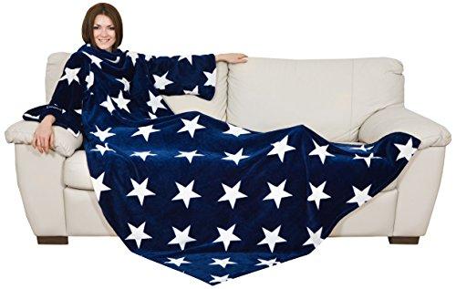 Kanguru Deluxe Stars Decke mit Sternenmotiv, Blau