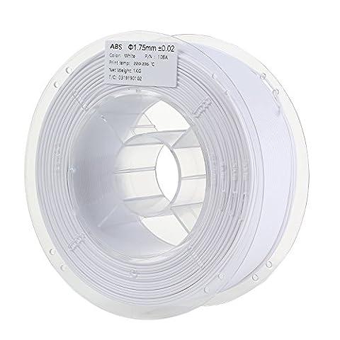 HICTOP 3D Printer 1.75mm ABS Filament - 1kg Spool (2.2 lbs) - Dimensional Accuracy +/-