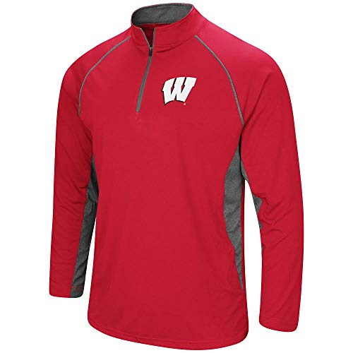 Colosseum Herren ncaa-rival-1/4Zip Pullover Windshirt, Herren, Wisconsin Badgers-Cardinal, XX-Large 1/4 Zip Windshirt