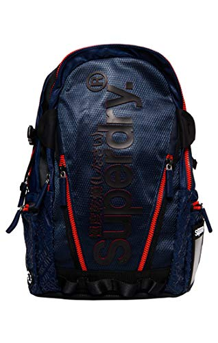 Superdry Herren Diamond AOP Tarp Backpack Rucksack, Blau (Dark Navy 24S), 27x46x15 cm Diamond Sneaker