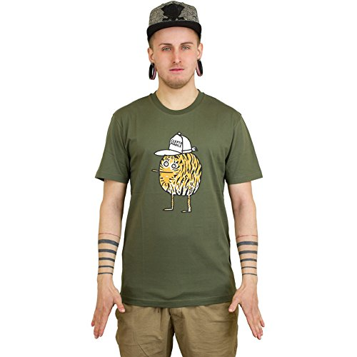 Cleptomanicx T-Shirt Tiger olive Olive