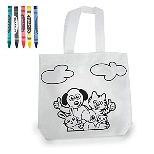 DISOK - Bolsa Colorear - Bolsa Infantil Pintar Pinturas