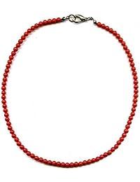 Halskette 45 cm aus Rote Korallen Perle 5mm