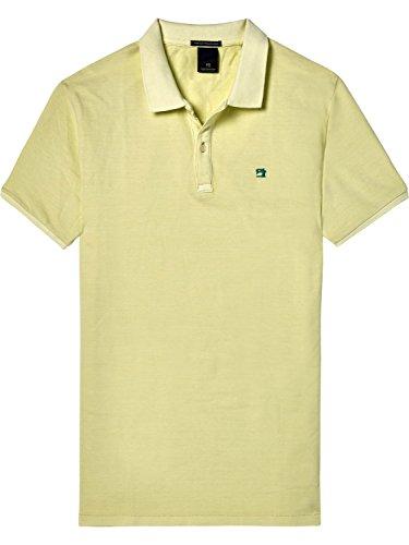 Scotch & Soda Herren Poloshirt Classic Kurzarm Golden Yellow