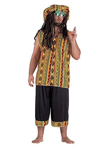 Bob Marley Halloween Kostüm - Chiber - Jamaikanischer