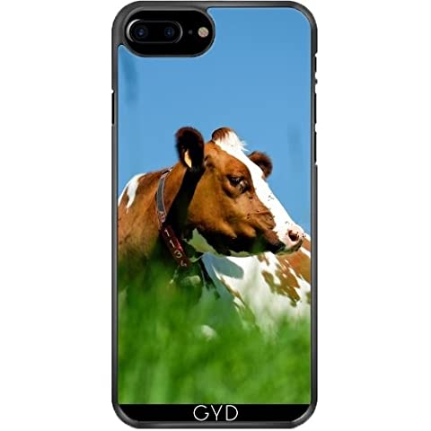 Custodia in silicone per Iphone 7/7S Plus - Animale Campo Mucca by WonderfulDreamPicture