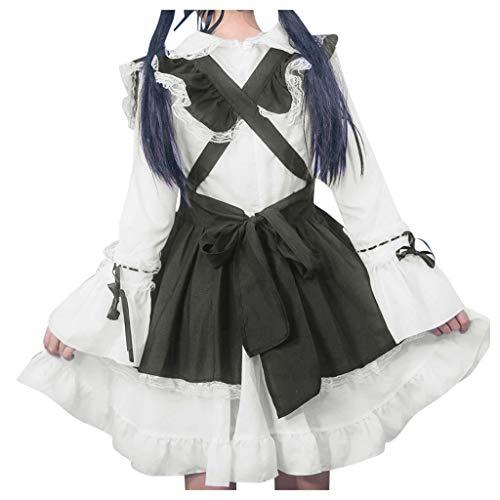 Damen Lolita Maid Cosplay Kostüm,Cosplay Kostuem Lolita gotische Kleider Abendkleider elegant...