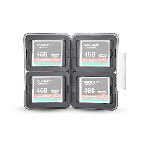 PROfezzion Multi Memory Card Case Speicherkarten Schutzbox für 4 x CompactFlash/CFast/CF Karten - Wasserdicht und Stoßfest Box Safe Tasche (Hellgrau) (Wasserdicht Card Memory Case)