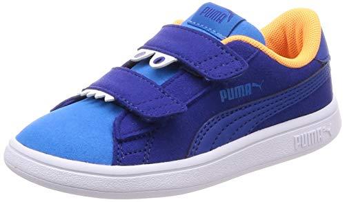 Puma Unisex Baby Smash V2 Monster V INF Sneaker Blau (Surf The Web-Indigo Bunting-Orange Pop White 1), 24 EU