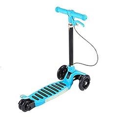 Idea Regalo - OUTAD Monopattino Scooter per Bambini Monopattino pieghevole urbano con 3 Ruota, dell'utente 100 kg (Blu)
