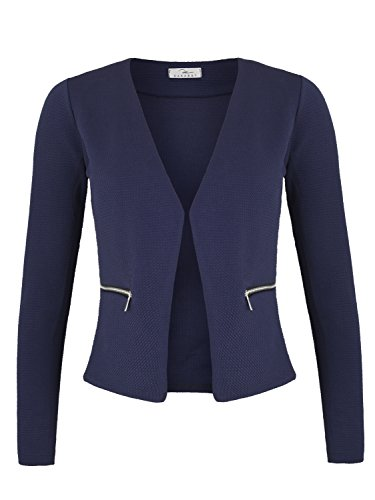 Damen Blazer mit Taschen ( 382 ), Farbe:Dunkelblau, Kostüme & Blazer für Damen:38 / M