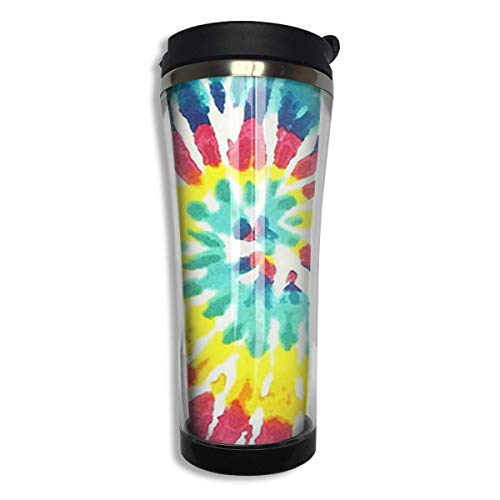 Print Insulated Travel Mug (Tumbler Travel Mug Tie Dye Print Insulated Both Cold & Hot Coffee Mug 14 Oz (420 ML))