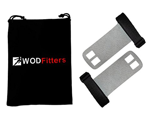 WODFitters - 2 calleras de cuero martillado - Para rutinas de entrenamiento combinado, dominadas supinas...