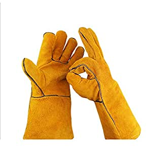 Outdor Home Work Women Extended Long Cuff Puncture Resistant Gardening Gloves