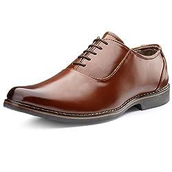 Escaro Tan Officewear Oxford Shoes For Men(ES1081KB_Tan_10)