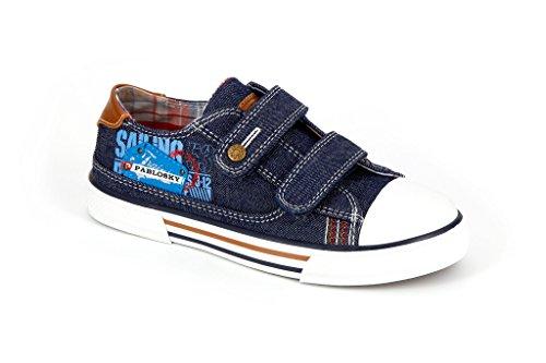 Pablosky 934820, Chaussures avec Velcro Mixte Enfant Le bleu marine