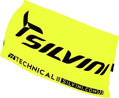 SILVINI Erwachsene Dünnes Stirnband Para, Neon-Black, L/XL, 3214-UA523-71084