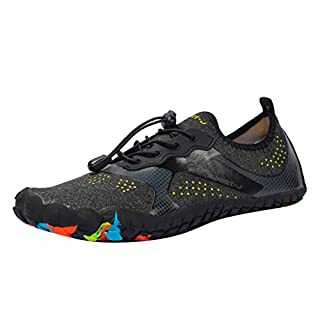 NING Water Shoes Mens Womens Quick Dry Sports Aqua Shoes Unisex Swim Shoes with Drainage Holes for Swim,Walking,Yoga,Lake,Beach,Garden,Park,Driving,Boating