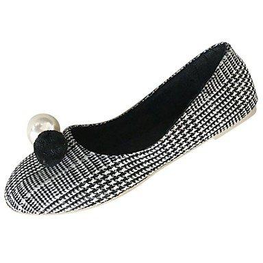 Wuyulunbi @ Chaussures De Femmes Pu Confort Pour Les Appartements D'hiver Bout Rond Pour Casual Kaki Noir Us6 / Eu36 / Uk4 / Cn36