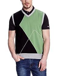 XFORE Chaleco de golf de punto para hombre Castle Hill, color multicolor
