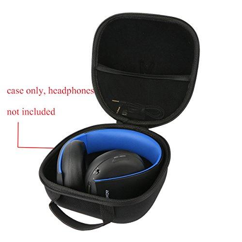 Teckone EVA Funda Estuche Bolso Para Sony Auriculares Estéreo Inalámbricos (PS4)/Para Mando DualShock 4(1pcs). Mesh Pocket Para otro accesorios