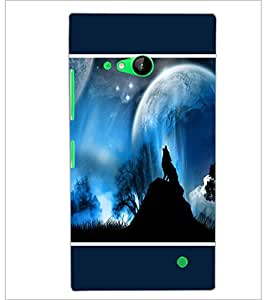 PrintDhaba Night Sky View D-1304 Back Case Cover for NOKIA LUMIA 730 (Multi-Coloured)
