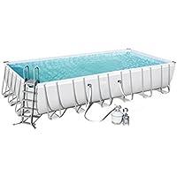 Bestway Power Steel Rectangular Pool Set 732x366x132cm  Stahlrahmenpool-Set mit Sandfilteranlage und Zubehör