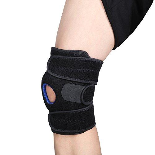 Kniebandage, open-patella Stabilisator lijuan-maximum verstellbar Comfort Knie Sleeve für Arthritis lindert Schmerzen, Meniskus Verletzungen erholen, ACL, LCL Reißen, MCL, Laufen, Basketball/One Size Unisex Korsett (schwarz)