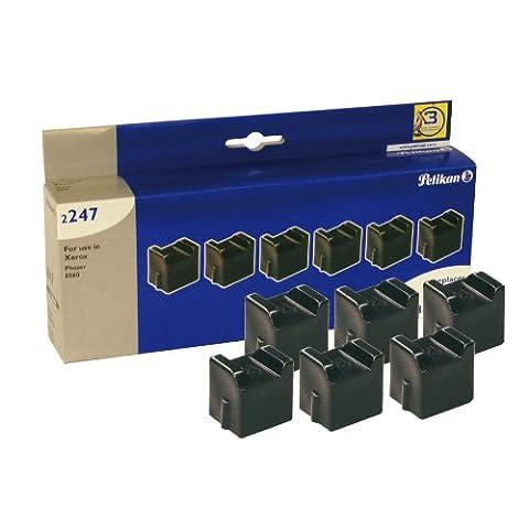 Pelikan 630834 Pack de 6 sticks compatibles pour Xerox 108R00727 6000 pages Noir