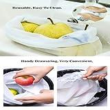 Fishoon Bolsas para Compras Reutilizable, Ecológicas y Excelentes para Guardar Frutas/Verduras, Juguetes, Manualidades, Cosméticos, Lavable y Libre de BPA, 3 Tamaños (Malla Blanca)