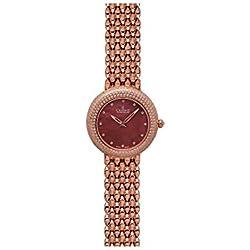 Charmex Las Vegas 6302 35mm Rose Gold Steel Bracelet & Case Synthetic Sapphire Women's Watch